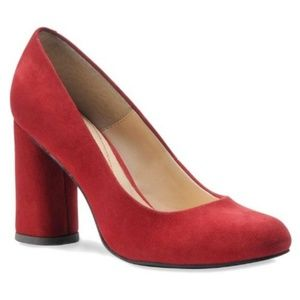 Isola red suede leather pumps size 7 1/2m